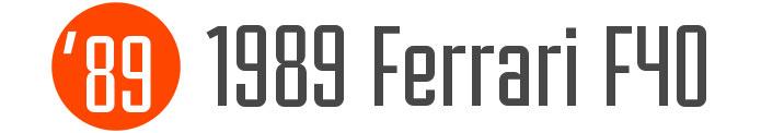 1989-Ferrari-F40